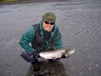 Lachsfischen  in Schwedisch Lappland
